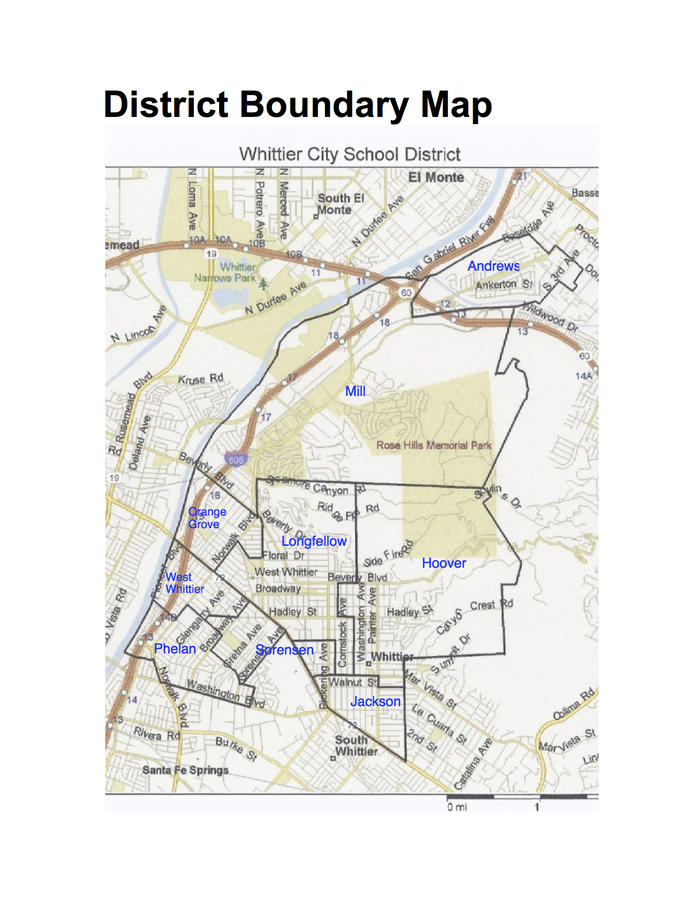 Whittier District Map
